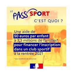 Pass'Sport t'offre 50€ !